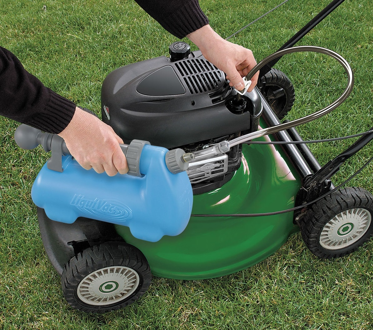 how to change oil of lawn mower