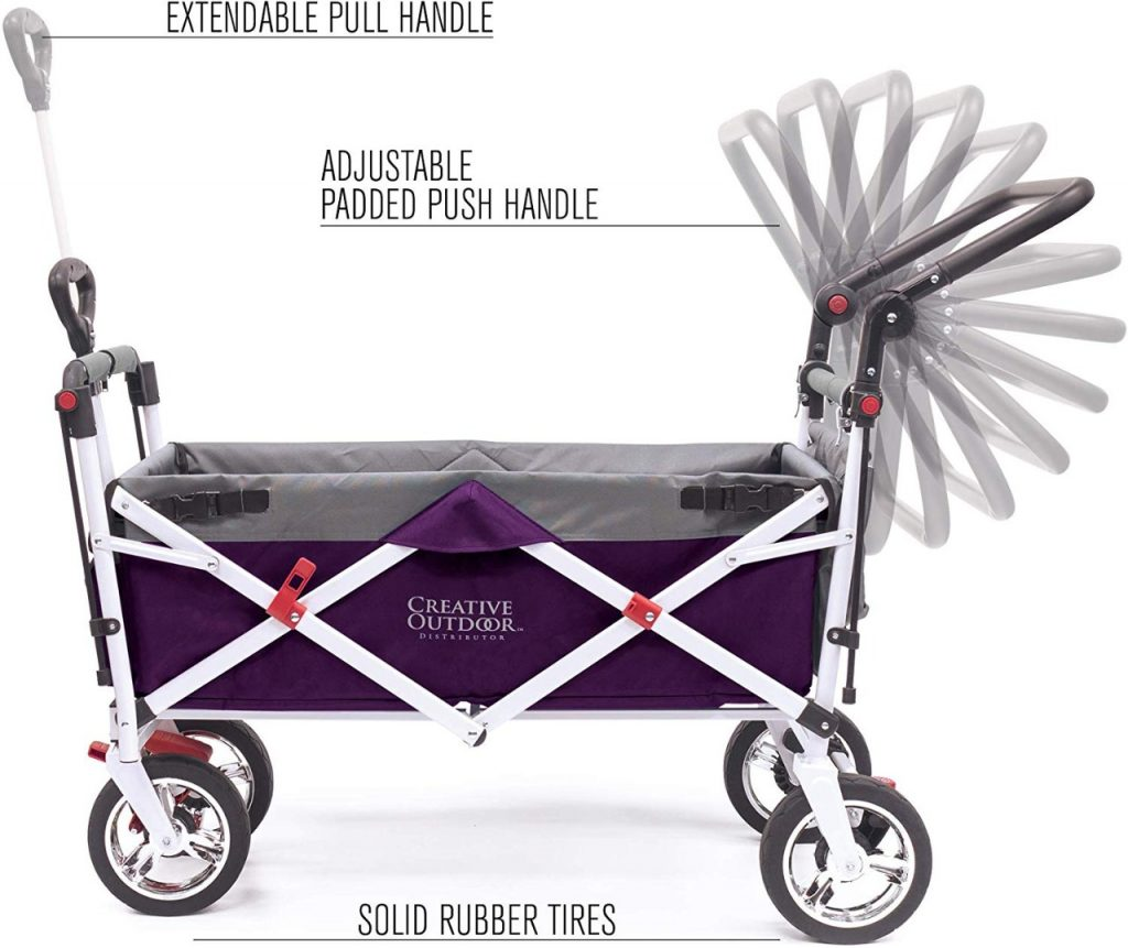 foldable wagon with handles