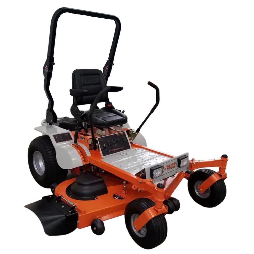 Beast 62 in. 25 HP Gas Powered by Briggs and Stratton Pro Engine Zero-Turn Commercial Mower with Free Rollbar and Headlight