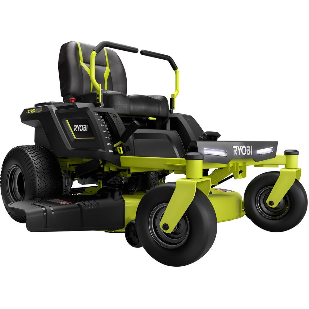 RYOBI 42 in. 100 Ah Battery Electric Riding Zero Turn Mower