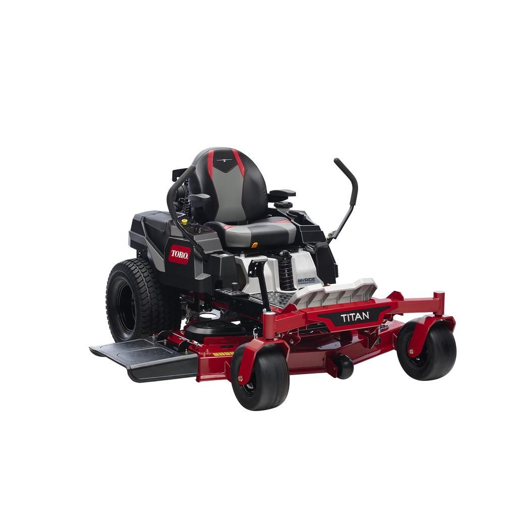 Toro TITAN 54 in. IronForged Deck 24.5 HP Commercial V-Twin Gas Dual Hydrostatic Zero Turn Riding Mower with MyRIDE