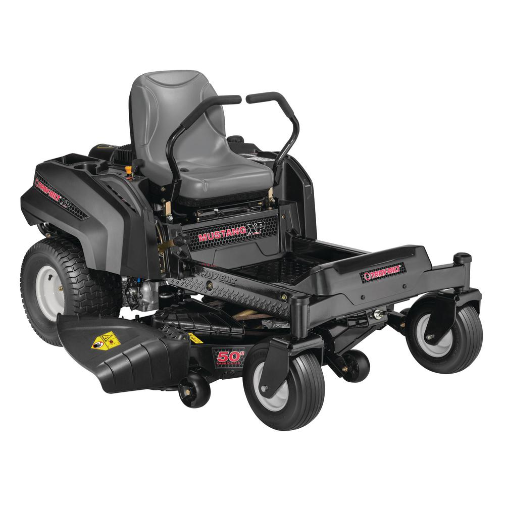 Troy-Bilt Mustang XP 50 in. Fabricated Deck 24 HP V-Twin Briggs and Stratton Pro Series Engine Gas Zero Turn Riding Mower
